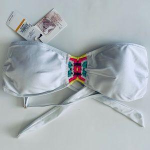NWT Jessica Simpson swim bikini Bandeau top